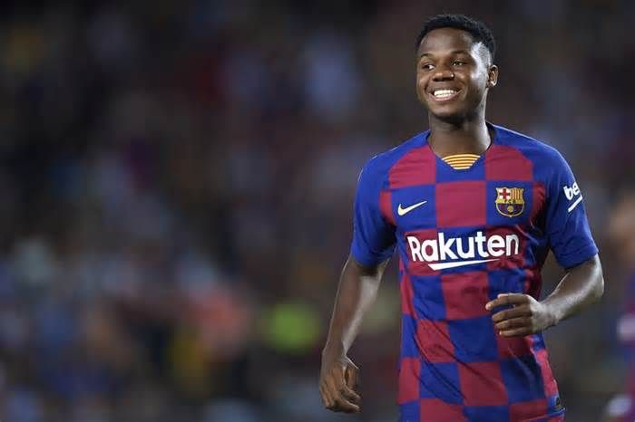 16 Year Old Barcelona Star Ansu Fati Misses Champions League Clash Due To Growing Pains Get The Latest News For Barcelona Champions League Barcelona Football