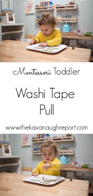 Easy Toddler Tray – Washi Tape Pull