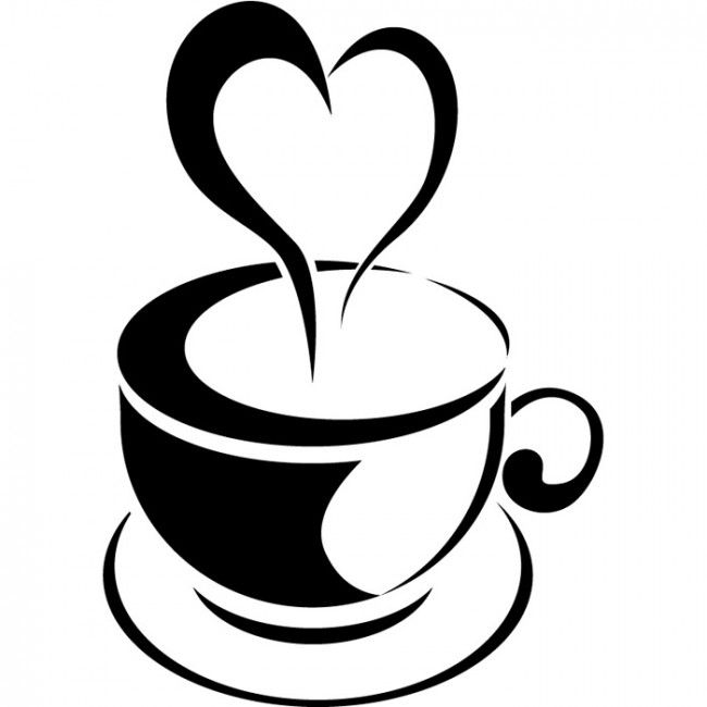 221 Best Silhouettes Cafe Images Chef Rh Com Coffee Cup Outline Steaming Clip Art