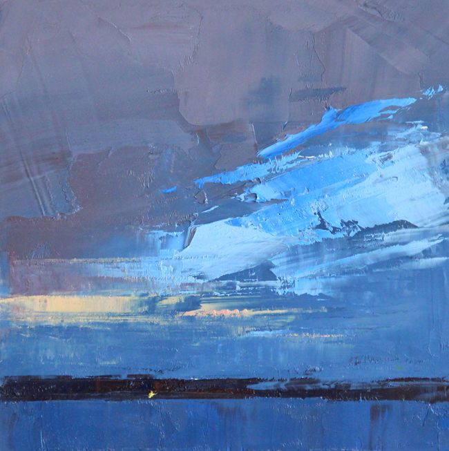 Judy Friday, Single Light. I love these simple shapes made with the palette knife!