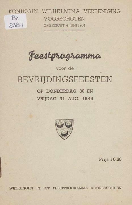 Voorschoten 31 augustus 1945