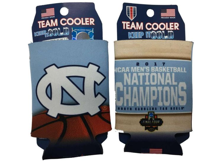 North Carolina Tar Heels 2017 NCAA Men's Basketball Champions Can Cooler