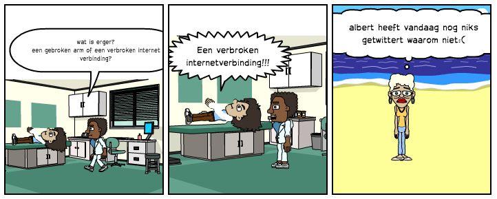 Gebroken been of gebroken internet?