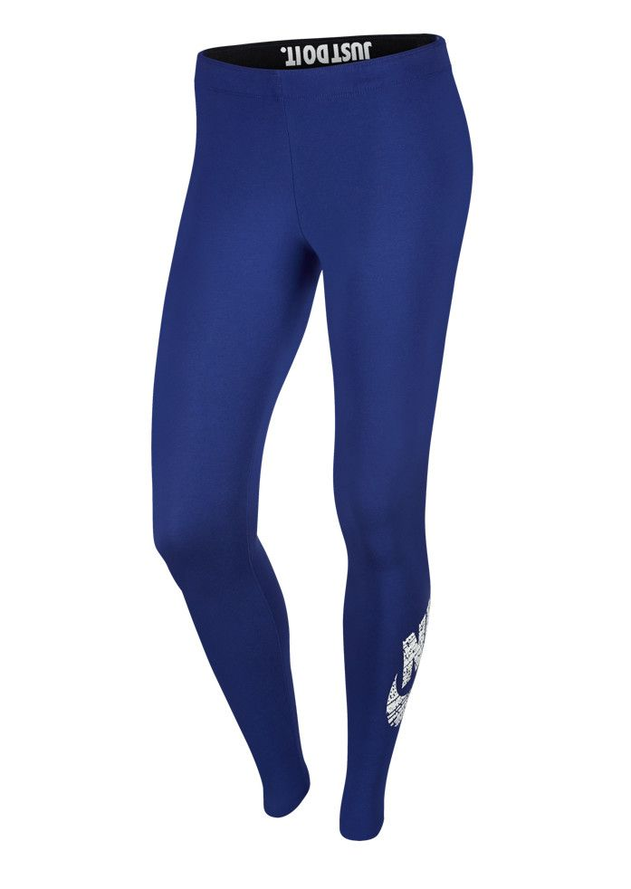 Nike αθλητικό κολάν μπλε με logo