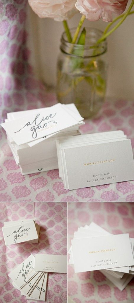 I like how this business card has a nice script font logo on the front but simple and small lettering on the back; how the front takes up much space but the back has a lot of white space.