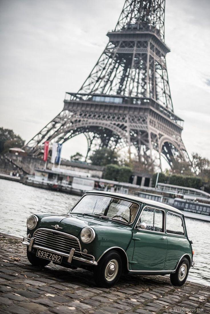 Morris Mini Minor and Eiffel Tower