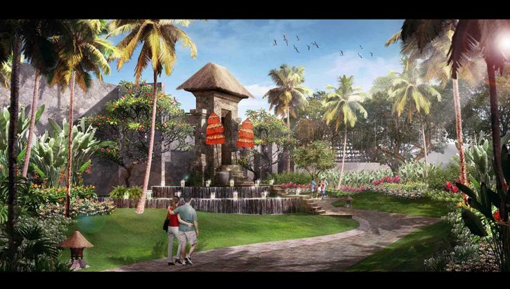 Landscape Illustration   Bali - Indonesia   2013 Design by Studio Hijau Lumut