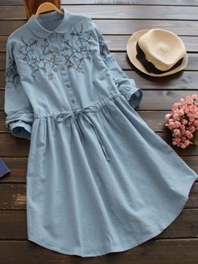 SHARE & Get it FREE   Flat Collar Embroidered DressFor Fashion Lovers only:80,000+ Items • New Arrivals Daily Join Zaful: Get YOUR $50 NOW!