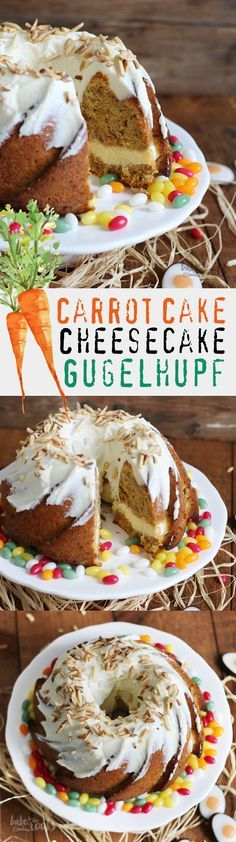 Delicious Carrot Cake Cheesecake Gugelhupf - Perfect for Easter | Bake to the roots