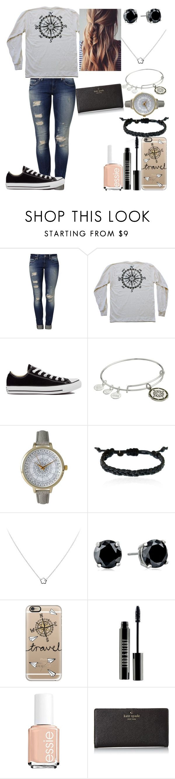 """""""Explorer"""" by the-kind-one ❤ liked on Polyvore featuring Mavi, Converse, Alex and Ani, Olivia Pratt, Domo Beads, Diamonfire, CZ by Kenneth Jay Lane, Casetify, Lord & Berry and Essie"""