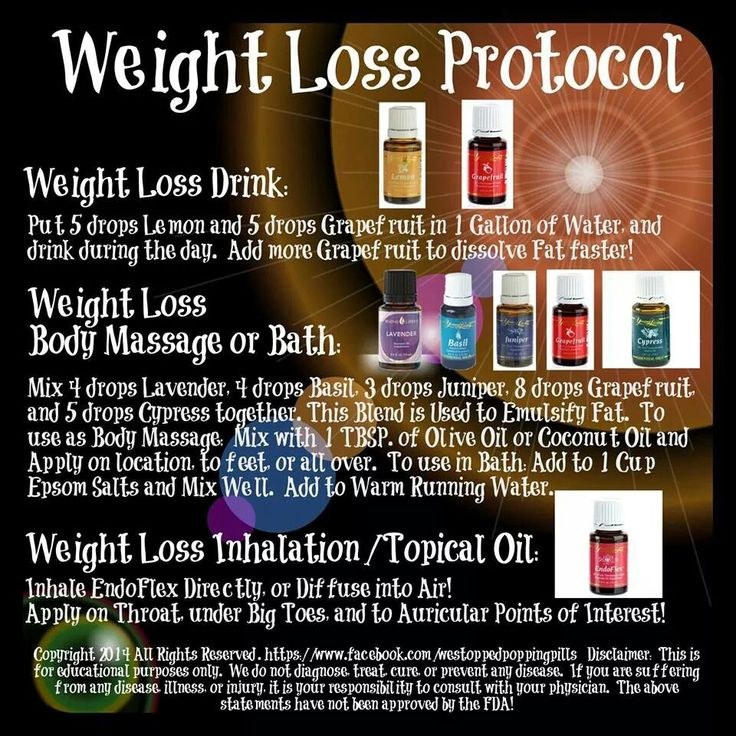 Young Living Essential Oil & Weight Loss Protocol