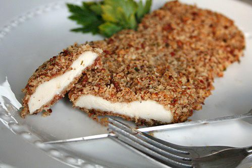 Oven Baked Pecan Crusted Chicken