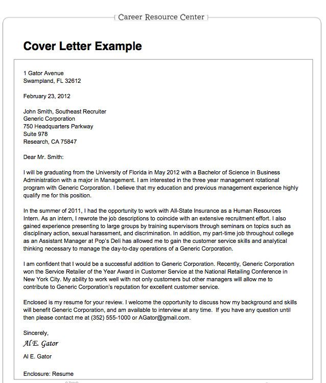 Sample General Cover Letter For Job Application