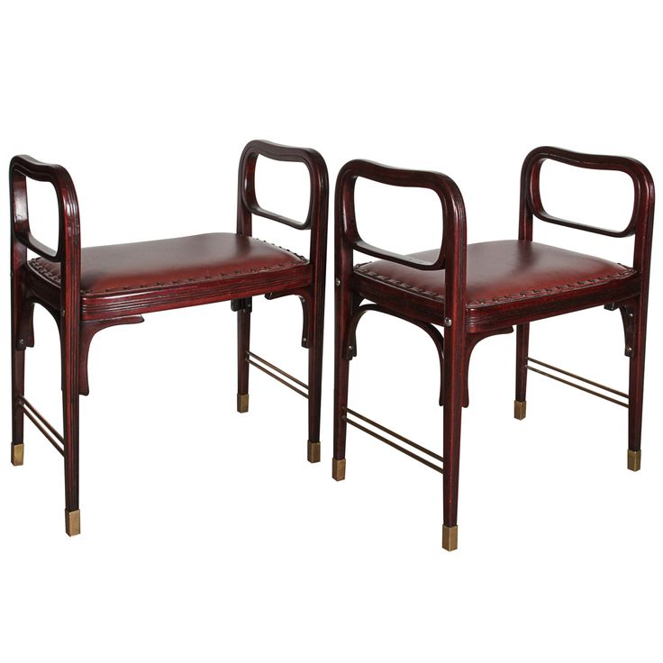 Inspirational Pair of Otto Wagner Stools