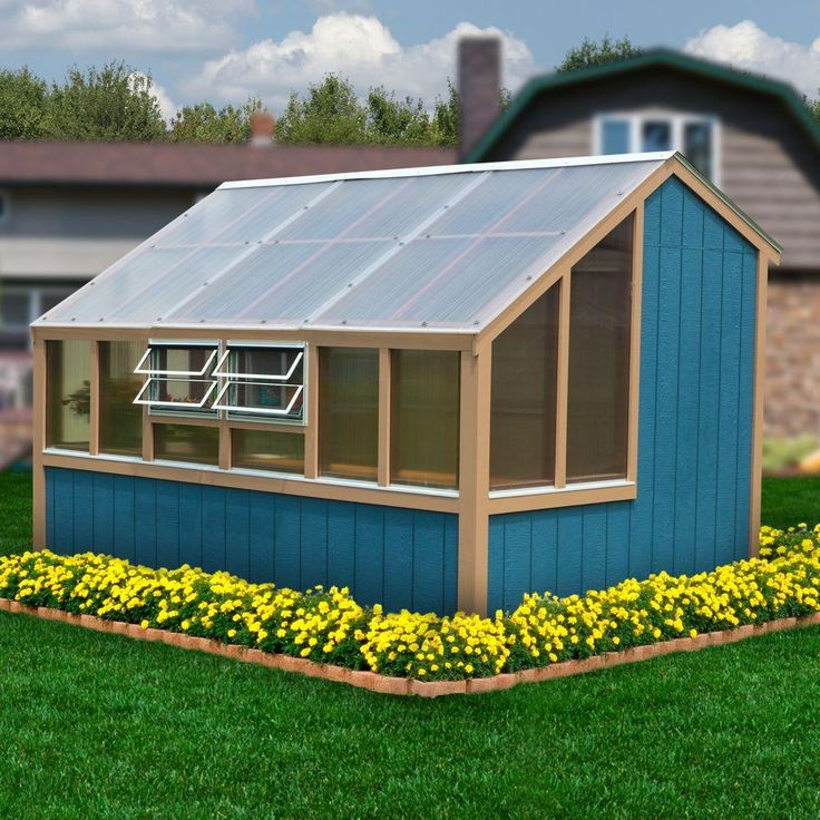 You don't need a large yard to grow your favorite plants and vegetables. This greenhouse kit gives you plenty of floor and shelf space to plant indoors. You can even manage humidity levels with its ventilation hand crank. This greenhouse is one of The Home Depot's most pinned products.
