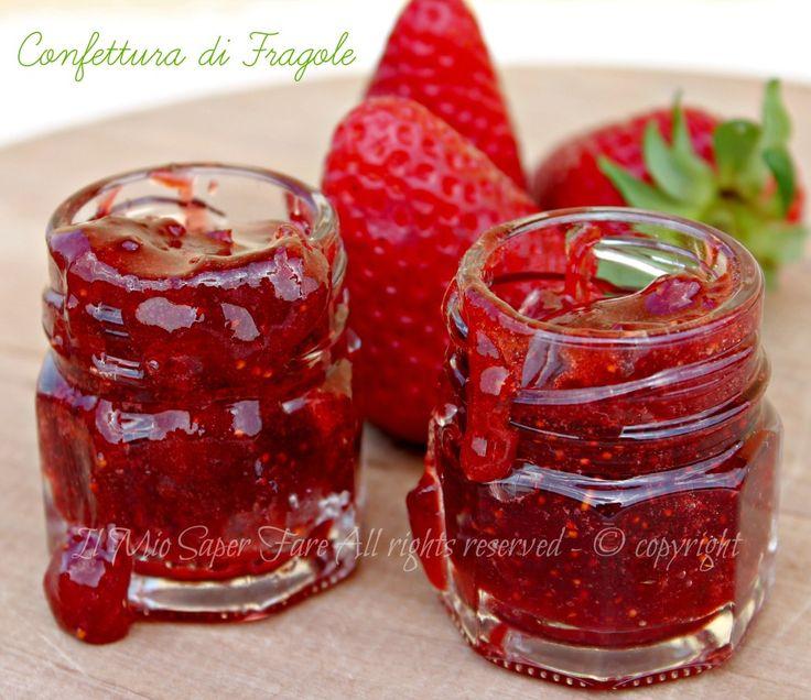 Marmellata di fragole a pezzettoni | confettura il mio saper fare