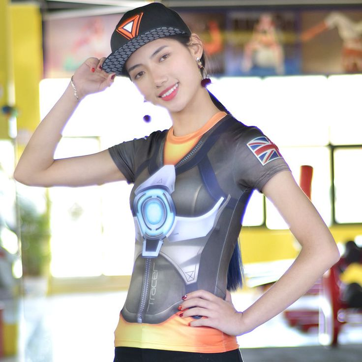 >> Click to Buy << OW Song Hanna DVA Costume T-shirt Watch Over Tshirt Casual Tracer Female Hero DVA Widowmaker Mercy Cos T Shirt Clothing #Affiliate