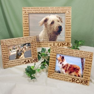 Engraved Pet Memorial Picture Frame | Personalized Pet Memorial Keepsake | Pet Picture Frame