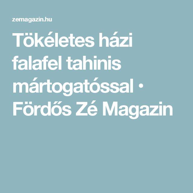 Tökéletes házi falafel tahinis mártogatóssal • Fördős Zé Magazin