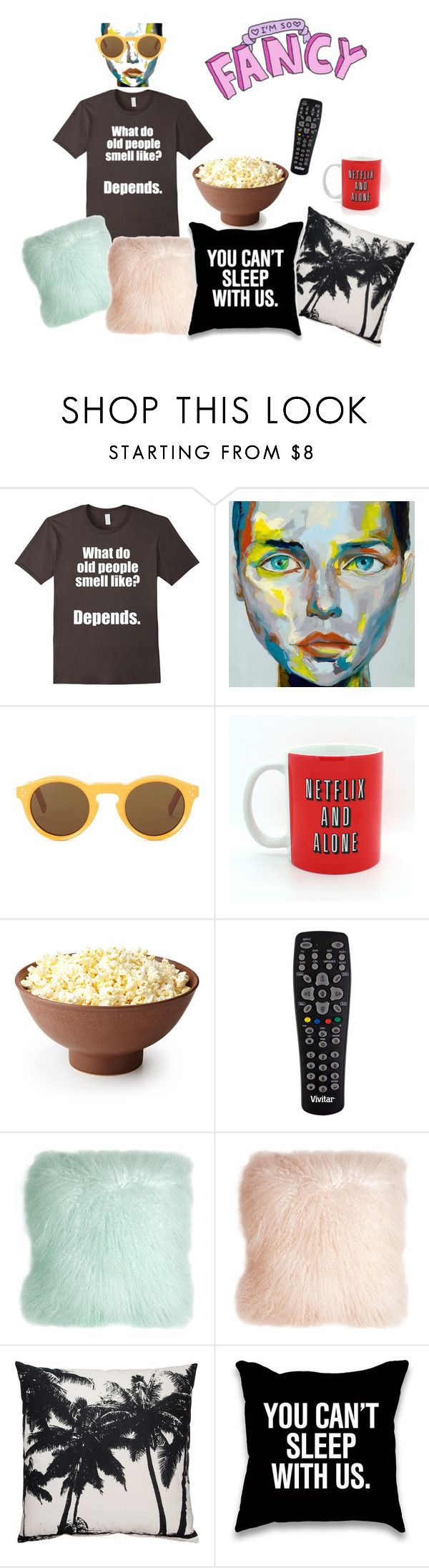 """""""I'm So Fancy."""" by bookworm528 ❤ liked on Polyvore featuring CÉLINE, Vivitar and Pillow Decor"""