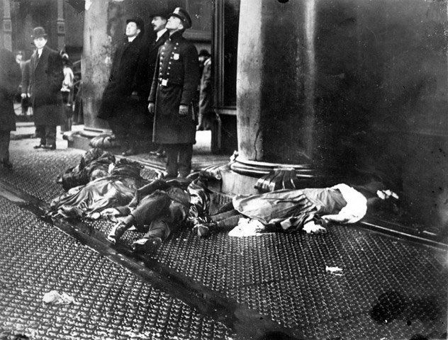 Let us keep moving forward, shall we? Triangle Shirtwaist Factory Fire. http: