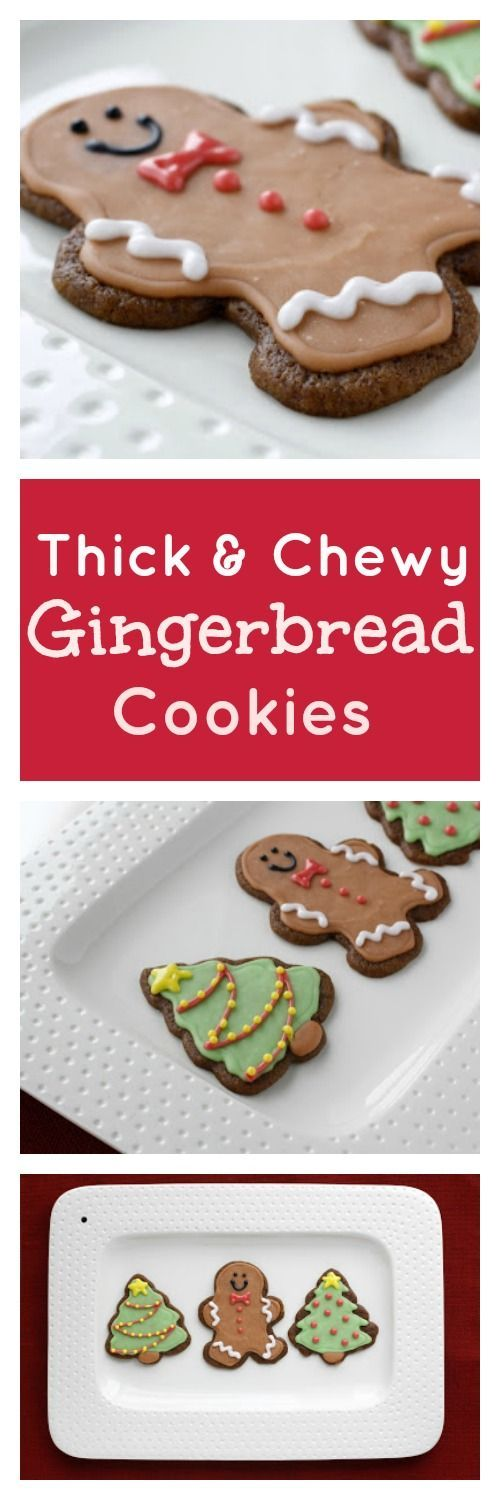 Thick and Chewy Gingerbread Cookies - our favorite gingerbread cookie recipe, so thick and chewy, perfect for Christmas!