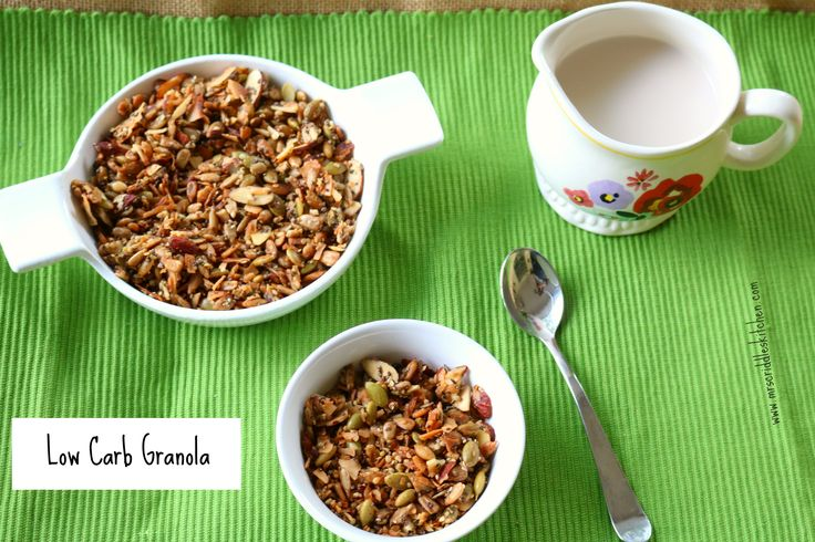 A low carb granola! Perfect if you are watching your carb intake!!