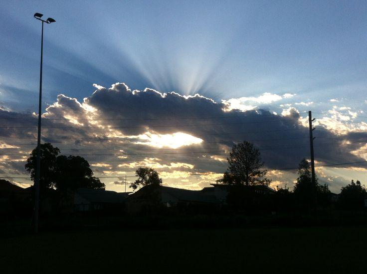 Sky #clouds #light #shine #iphone4