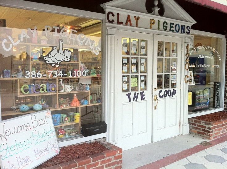 Clay Pigeons Pottery Shop in DeLand, FL: Downtown Deland, Florida Deland