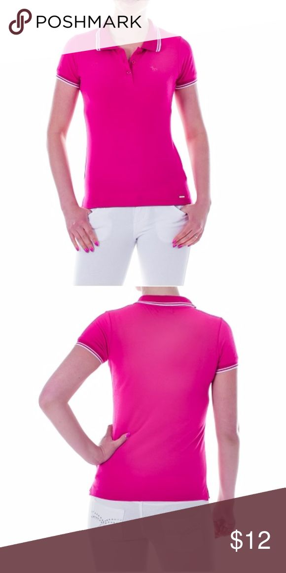"Mia Mia Girl Junior Polo Shirt, Pink New, packaged Polo Shirt in a perfect girly pink. Perfect for a young lady venturing out to a sports outing. Also excellent as school uniform! 100% Cotton. Sz S: 30 inches around chest, 22 inch length, 18 inch neck circumference. Sz M: 32"" around chest, 23"" length, 19"" neck circumference. Sz L: 34"" around chest, 24"" length, 20"" neck circumference. Sz XL: 36"" around chest, 25"" length, 20"" neck circumference. Mia Mia Shirts & Tops Polos"