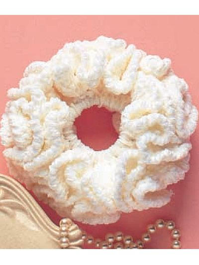 Chenille Scrunchie I Crochet Pattern  Stitch up a scrunchie quickly using this easy crochet pattern. It's perfect to give to a friend or keep for yourself.  Designed by Diane Simpson