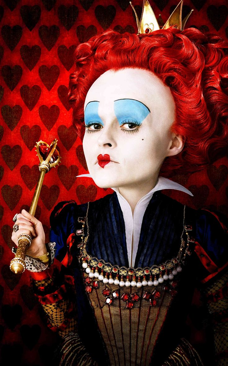 """""""BE OFF WITH THEIR HEADS!"""" Infamous quote from """"The Red Queen"""". Tim Burton's """"Alice in Wonderland"""" changed this characters name from """"Queen of Hearts"""" to """"The Red Queen"""". Helena Bonham Carter performs an undoubtedly phenomenal role and perfects her the cruel character she plays."""