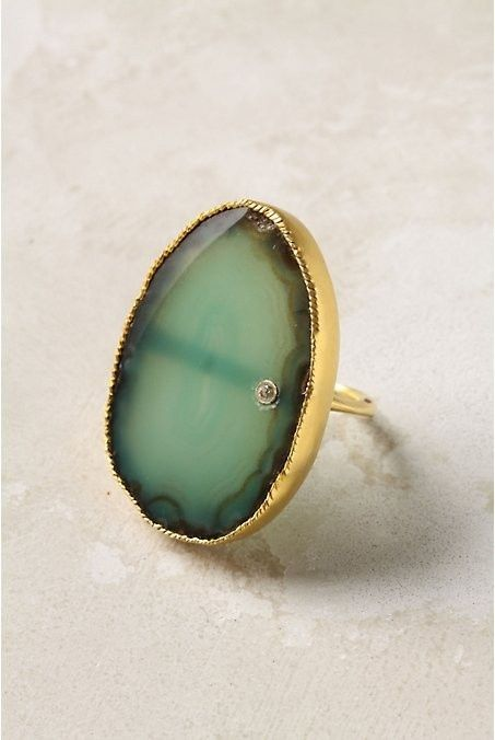 Unique ringStatement Rings, The Ocean, Nature Stones, Beautiful Mark, Agates, Gold Rings, Jewelry, Wedding Rings, Engagement Rings