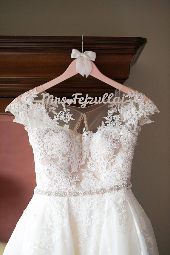 Rose Gold Wedding Hanger Bride Dress Personalized Mrs Bridal In 2018