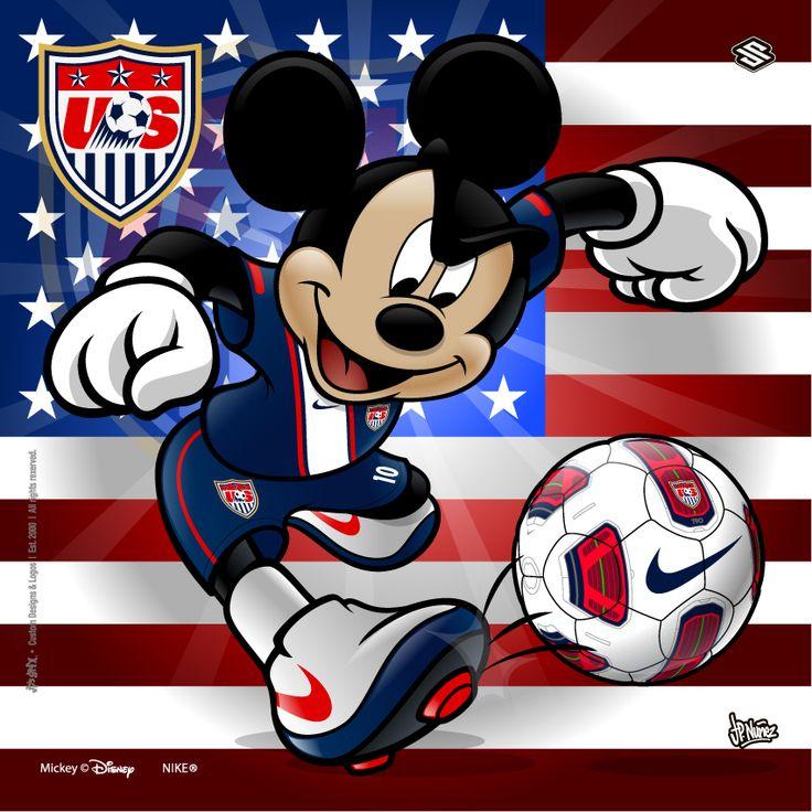 USA Soccer Mickey by jpnunezdesigns