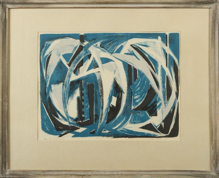Tuulikki Pietilä, 1954, puupiirros, 29x39 cm - Hagelstam A127