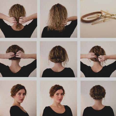 1001 + idées comment faire un chignon décoiffé | Chignon cheveux mi long, Coiffure facile ...