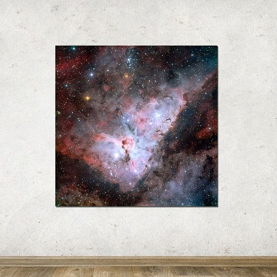 "58"" x 58"" - Space Photography, Large Print of Carina Nebula"