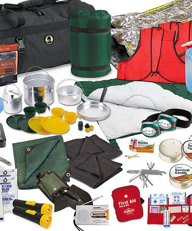 Family Emergency Preparedness Kit - Perfect for my zombie apocalypse kit. #zulily #zulilyfinds