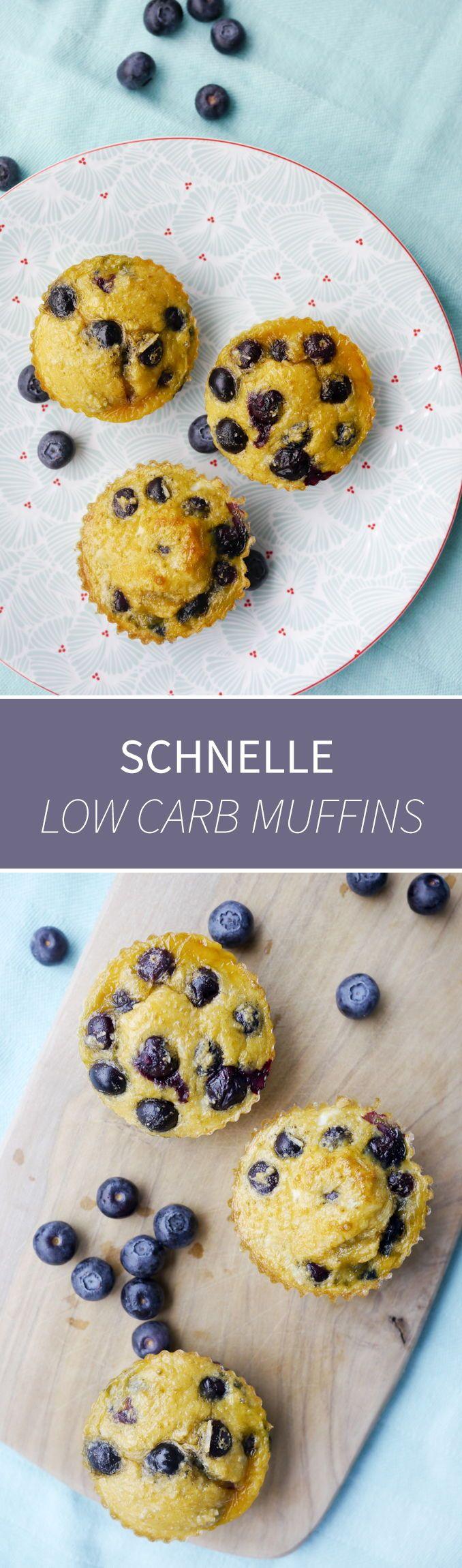 Schnelle Low Carb Muffins mit nur 5 Zutaten - Gaumenfreundin Foodblog #schnellerezepte #gesunderezepte #lowcarbrezepte #süßerezepte #muffinrezepte #muffins #lowcarbmuffins