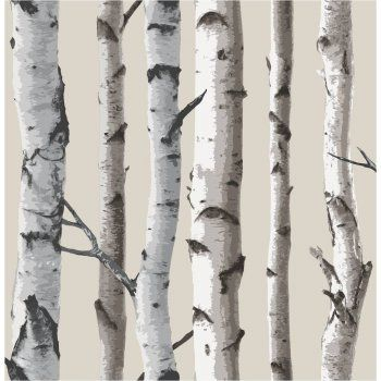 Fine Decor Birch Tree Wallpaper Natural Beige / Cream