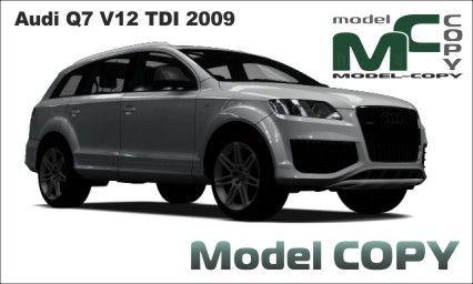 Audi Q7 V12 TDI 2009 - 3D-модель (3ds, 3dm, dwg, igs, max, obj, stl, ipt, ma)