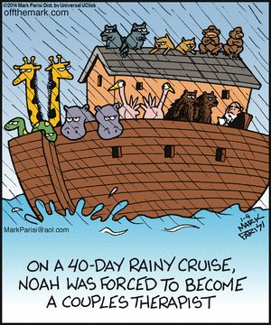 Off the Mark. Religious and therapy humor