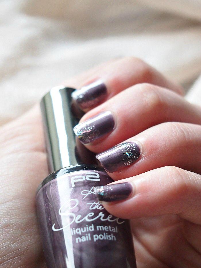 p2 violett nailart