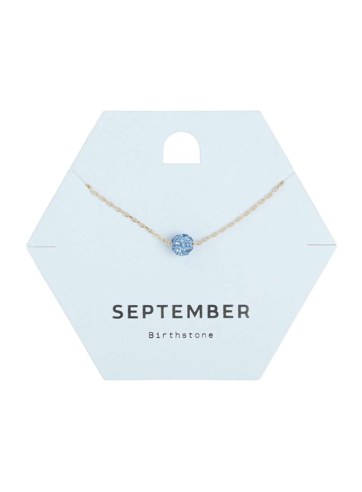 September Birth Stone Necklace