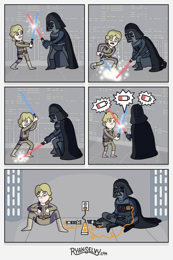 Star Wars… sin baterías. #humor #risa #graciosas #chistosas #divertidas