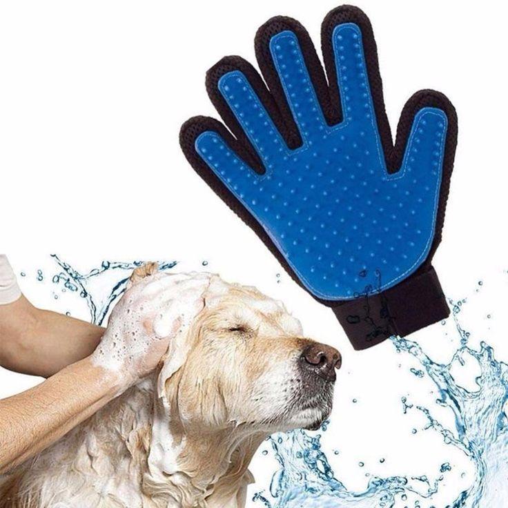 Pet Dog Cat Brush Glove Mitt Deshedding Glove for Gentle Pet Grooming Massage Bathing Brush Comb For Long and Short Hair