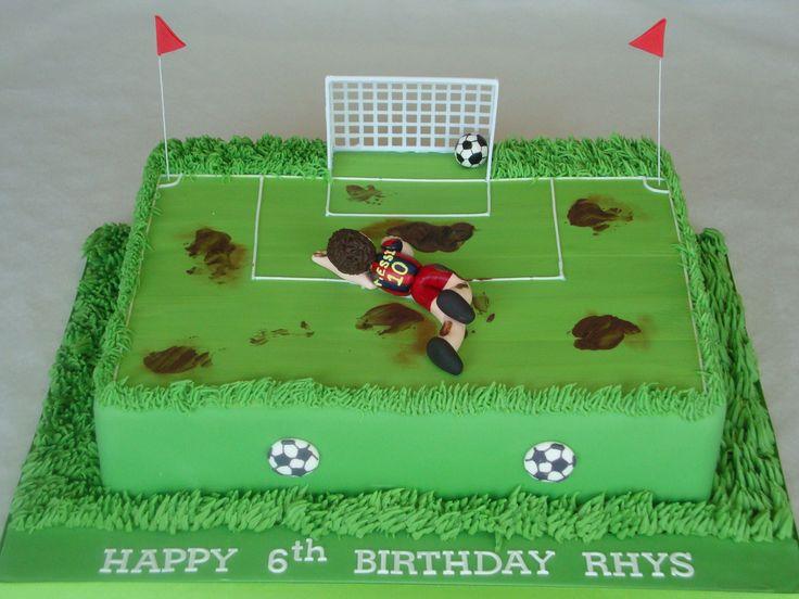 He shoots, he scores - GOAL! #FootballCakes #BirthdayCakes