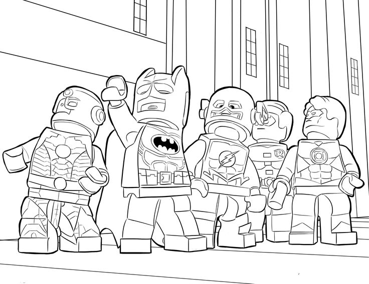 Lego Super Hero Coloring Pages For Kids Printable