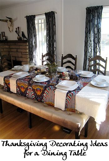Thanksgiving Decorating Ideas for a Dining Table